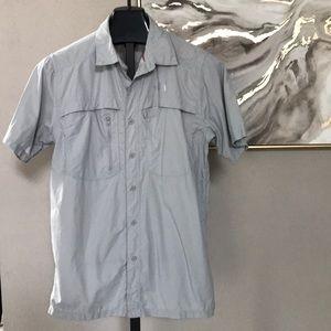 The north face men's medium gray shirt